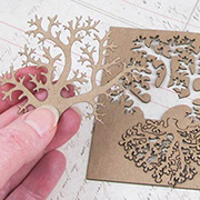 Coral Chipboard Set - 4 pieces
