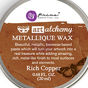 Art Alchemy Metallique Wax - Rich Copper