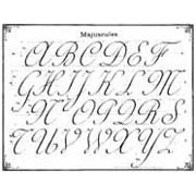 Cursive Writing Rubber Stamp