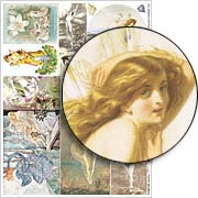 Fairy Women Collage Sheet