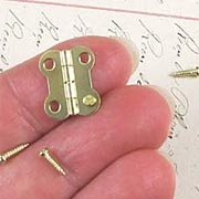 Small Gold Hinges with Screws