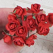 1/2 Inch Red Paper Roses