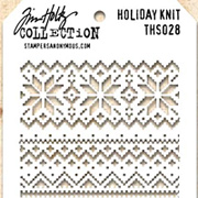 Tim Holtz Stencil - Holiday Knit