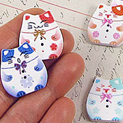 Japanese Cat Buttons*