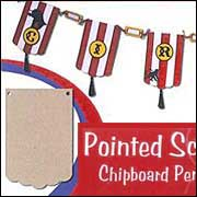 Pointed Scallop Chipboard Pennants - Grande*