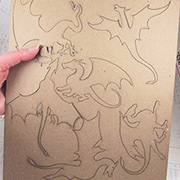 Larger Dragon Silhouettes