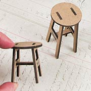 Set of Stools - 1 Inch Scale