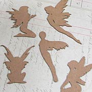 Miniature Fairies Silhouettes