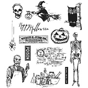 Tim Holtz Mini Halloween #4 Cling Stamp Set