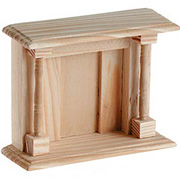Miniature Wooden Fire Place*