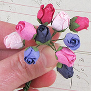 Small Rose Buds - Pink-Red-Purple