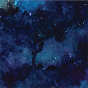 Night Sky Watercolor Scrapbook Paper