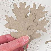 Oak Leaf Die-Cut Chipboard**