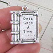 Large Once Upon a Time Book Charm