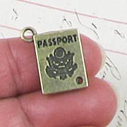 Bronze Passport Charm*