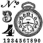 Numbers Rubber Stamp Set