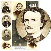 Edgar Allan Poe Collage Sheet
