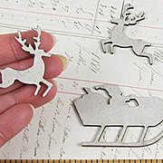 Santa and Reindeer Chipboard Die-Cuts*