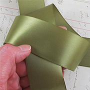 Moss Green 1-1/2 Inch Satin Ribbon