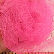 Tulle Netting - 6 Inch Wide - Shocking Pink**