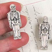 Ceramic Skeleton Bead - Large