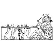 Old King Cole Rubber Stamp