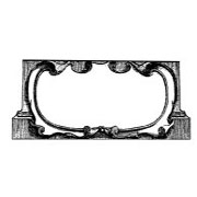 Scroll Frame Rubber Stamp