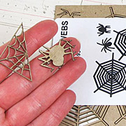 Spider and Web Chipboard Cut-Outs