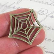 Antique Brass Spider Web*