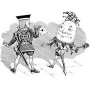 Surly Courtier/Humpty Dumpty Rubber Stamp