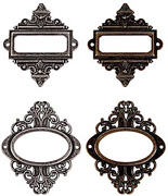 Tim Holtz Ornate Plates Set