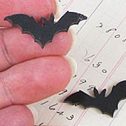 Acrylic Black Bat Cut-Outs