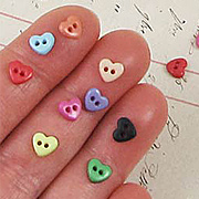 6mm Heart Buttons*