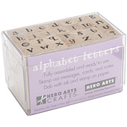 Tiny Carnival Letters Rubber Stamp Set