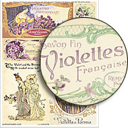 Violets Collage Sheet