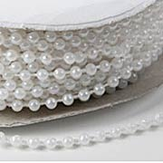 White Plastic Pearls (Strands)