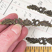 Wide Brass Filigree Header