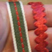 Christmas Ribbons - Red Velour Ric Rac