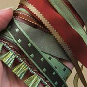 Christmas Ribbons - Reversible Tan Rust, 3/16 Inch